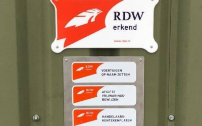Kentekenregistratie RDW erkend